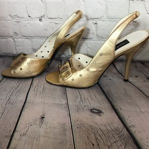 Like new Sam & Libby Meredith gold leather
